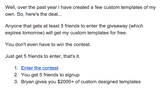 contest winner email example