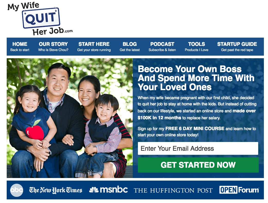 Steve Chou of MyWifeQuitHerJob uses an evergreen funnel to give away a free coaching call.