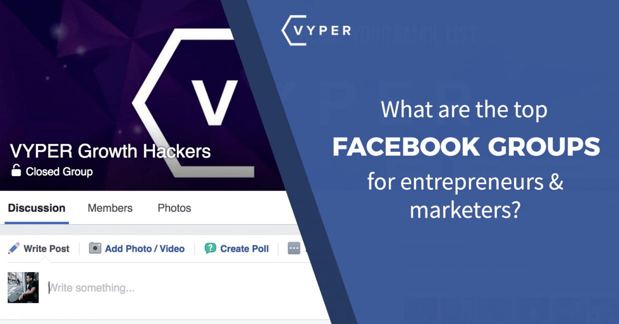 Top Facebook Groups To Join if You're an Entrepreneur or Marketer (Updated)