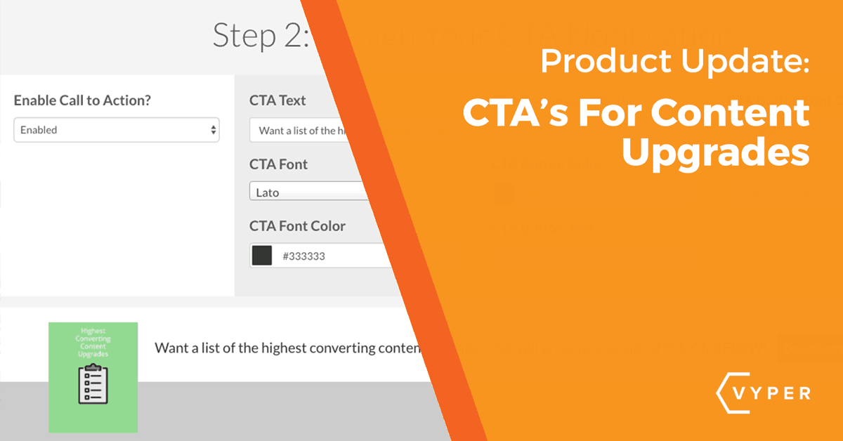 Product Update: New CTA Options For Content Upgrades