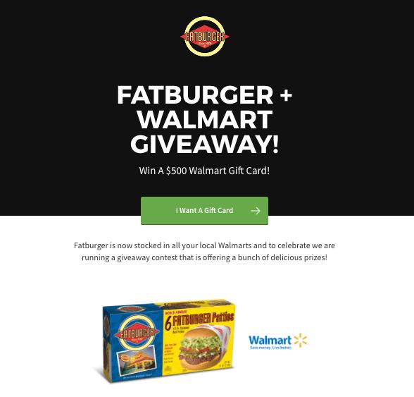 Walmart + Fatburger Giveaway