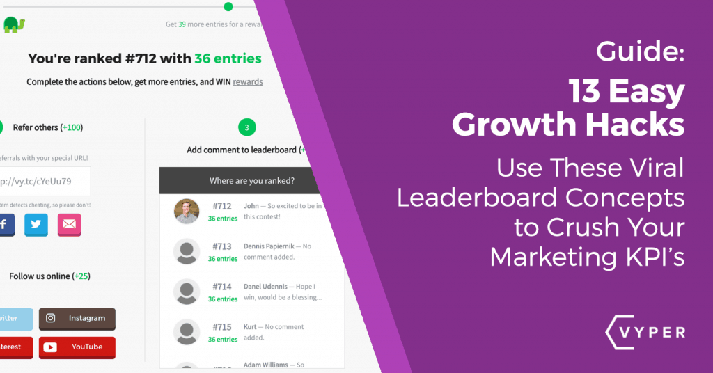 13 Ways to Growth Hack Using Viral Leaderboard Contests