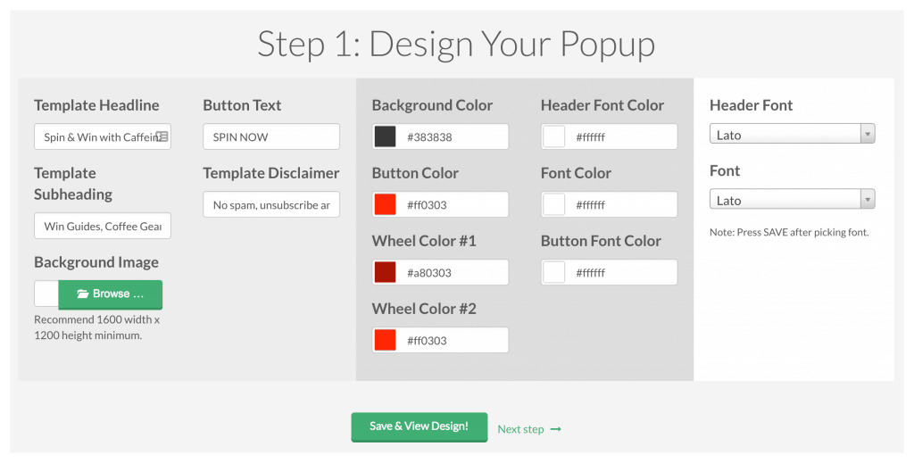 design you interactive popup