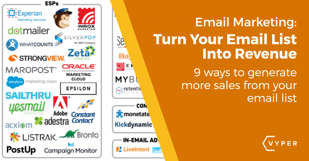 Generate More Sales From Your Email List - VYPER