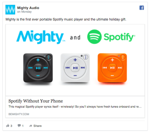 might audio facebook ads