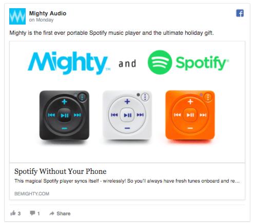 might audio facebook ads