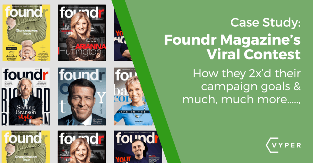 how foundr magazine used VYPER to create a viral contest