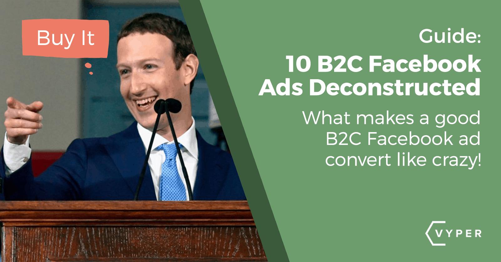 b2c facebook ad examples