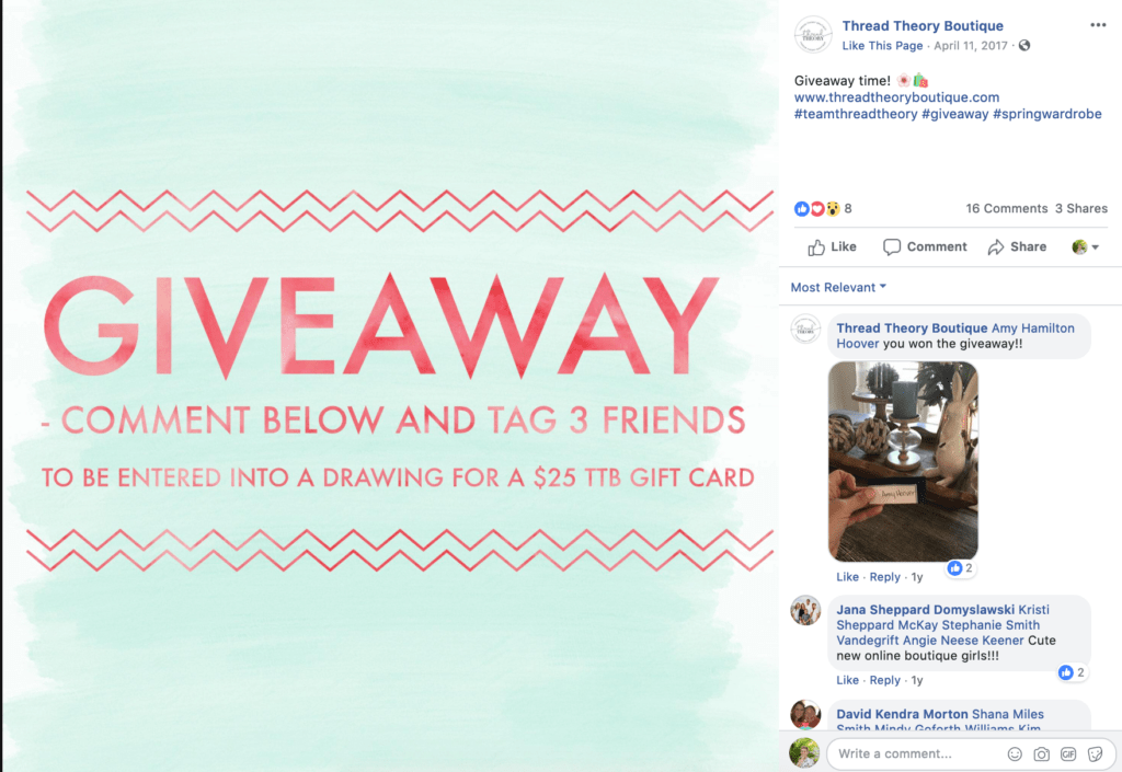 Facebook giveaway post rules