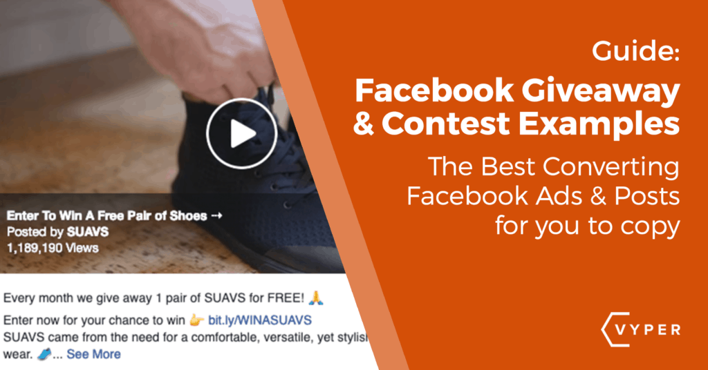 facebook giveaway examples