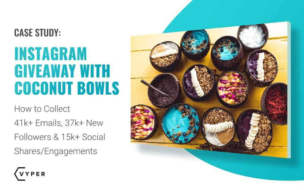 Instagram Giveaway Case Study: Collect 37k Followers, 41k emails & 15k shares