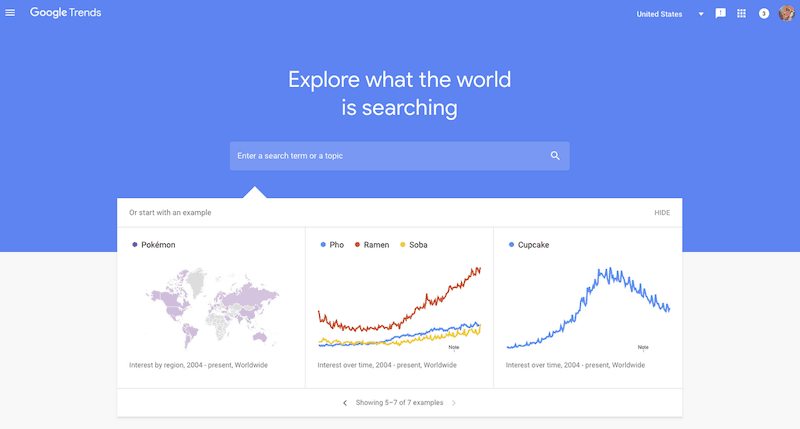 growth hacking tools - google trends