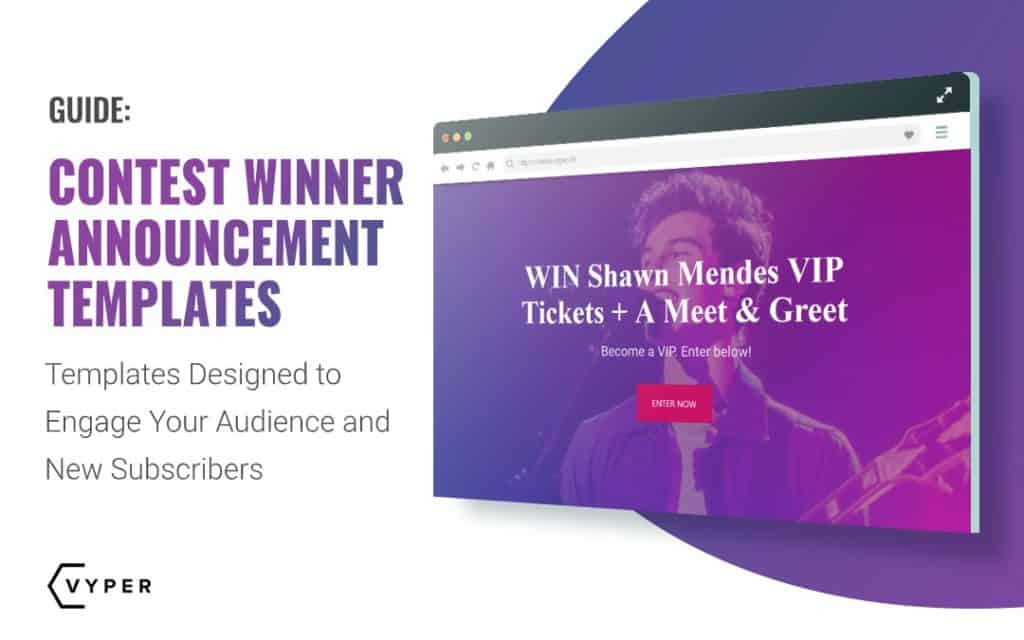The Best Contest Winner Announcement Template Examples Vyper