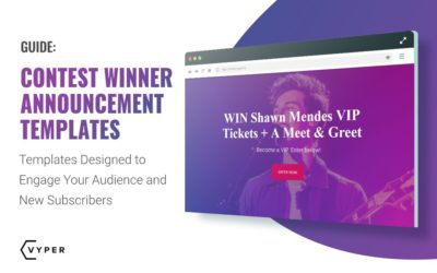 The Best Contest Winner Announcement Template & Examples
