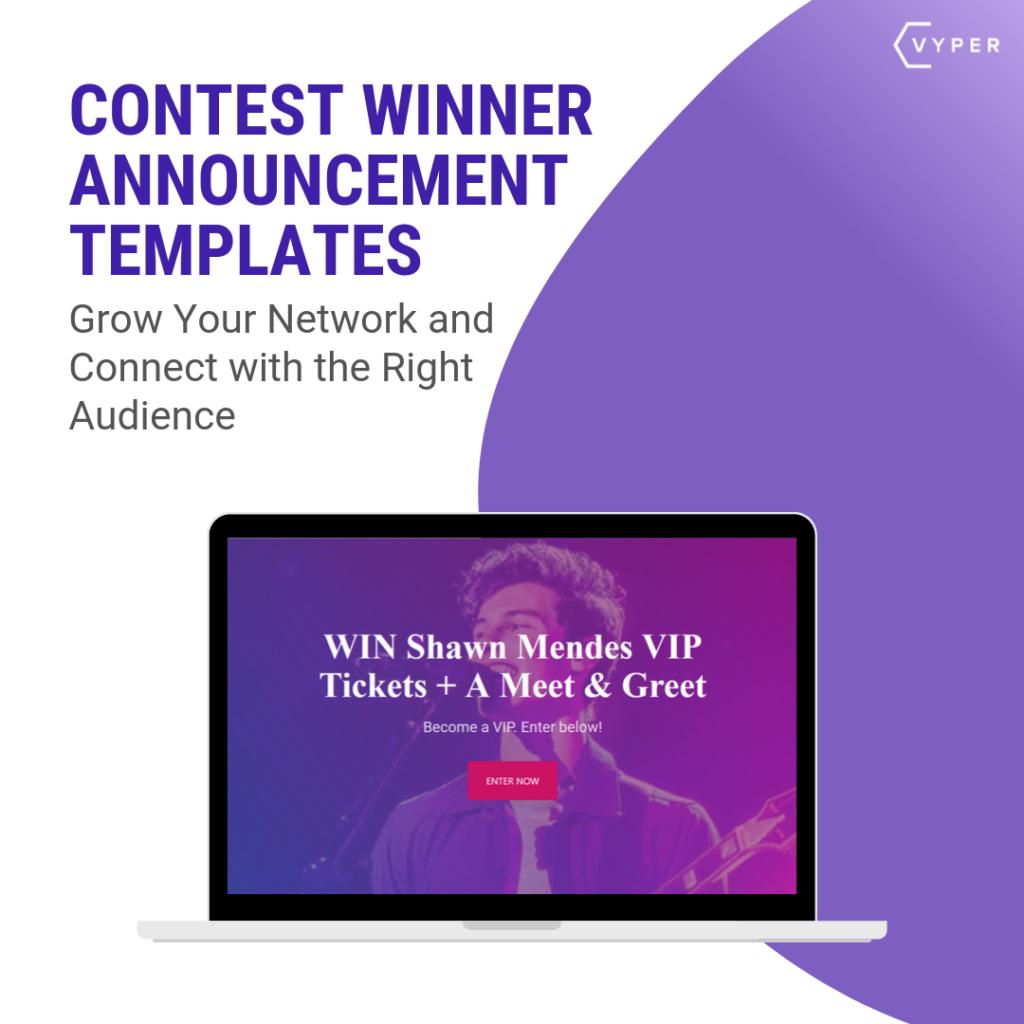 contest winner announcement templates